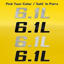 6.1L Decal Graphic Fits Chrysler 300C SRT8 Dodge Charger Jeep Grand Cherokee