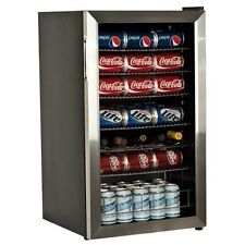 New 103 Can 5 Bottle Extreme Cool Beverage Cooler Refrigerator Stainless Steel