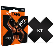KT TAPE PRO X Kinesiology Tape, Elastic Sport Patches, 15 Pack, Jet Black