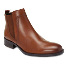 NEW Sandler Jericho Mid Brown Leather Ankle Boots Womens Shoes