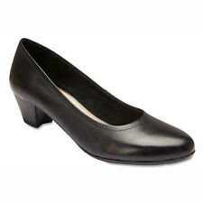 NEW Sandler Ollie Black Leather Court Heels Womens Shoes