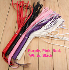 Leather Handle Whip Flogger Cat Nine Tail Adult Sex Toy Role Play Bondage