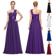 One Shoulder Masquerade Bridesmaid Formal Party Cocktail Evening Prom Dresses