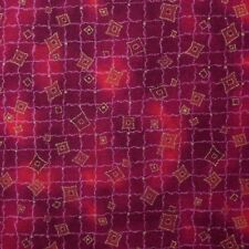 Quilt Fabric Cotton Calico Pink Tonal w/ Wavy Lines by Classic Cottons: FQ 17x22