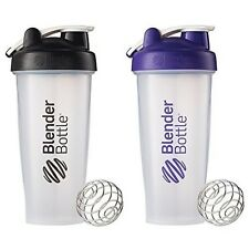 Blender Bottle Wire Ball Mixer Shaker Protein 28 Oz Classic Loop Top 2 Pack