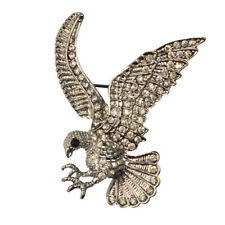 Vintage Retro Crystal Bird Eagle Animal Brooch Pin Clothing Jewelry Accessories