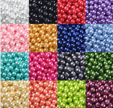 Wholesale Multicolor 10mm 30pcs/600pcs Glass Pearl Round Spacer Loose Beads