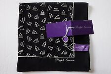 NWT AUTHENTIC Ralph Lauren Purple Label Silk Pocket Square, Made in ITALY