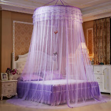 Round Mosquito Nets Luxury Princess Pastoral Lace Bed Canopy Net Crib 6Colors