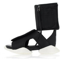 RICK OWENS Sneaker Sandal Unisex Leather and Fabric with Zip Original NWT
