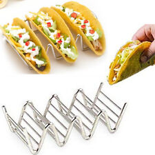 New Wave Shape Stainless Taco Display Stand Up Holders Kitchen Food Rack Shell