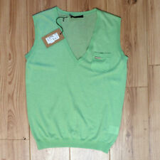 New Mens Dsquared Green Cashmere Sleeveless Knit Vest Top Size XXL BNWT RRP £220