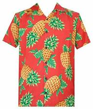Hawaiian Shirts Mens Bamboo Tree Print Beach Aloha Party Holiday