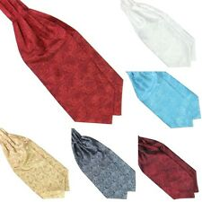 Mens Floral Satin Scarf Self Tie Ascot Tie Cravat Neck Tie Wedding Pocket Scarf