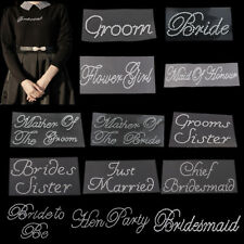 Diamante Bride Groom Sticker Wedding Transfer Hen Bridal Shower Dress Applique