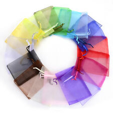 Pop 50Pcs/Bag 7x9cm 24 Colors Jewelry Holder Organza Bags Wedding Gift Pouches