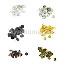 Lot of 24 Pieces Round Earring Findings DIY Accessories 12mm Cabochon Settings