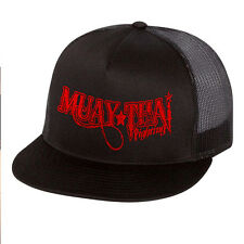 Muay Thai Fighting Gear Mesh Trucker Snap Hat MMA UFC Cap W Free Tapout Sticker