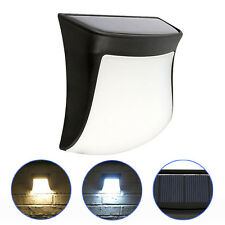 3 LED Outdoor Garden Security Fence Path Lamp Solar Powered Gutter Wall Light