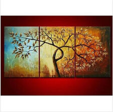 3Pcs Oil Painting Modern Art Manual Wall Parlor With Framed Canvas Abstract