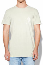 New KISS CHACEY Mens Engraved Tall Tee Acid Khaki