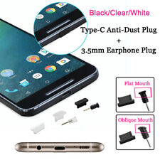 Silicone Anti-Dust Plug Set Type-C USB+3.5mm Earphone Port Protect For Phone Lot