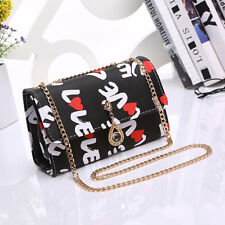 New Fashion Style Women PU Leather Girls' Mini Square Shoulder Bag Chain Handbag