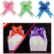 Small Pull Ribbon Bows Flowers Butterfly Wedding Xmas Party Decor 30/50/100PCS