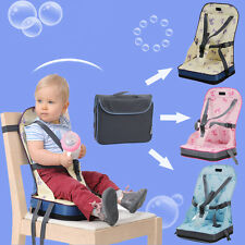 Baby Blue Pink Portable Toddler Infant Dining Chair Booster Seat Harness Safety