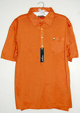 NWT Jack Nicklaus Mens Orange Heritage Pocket Polo in 100% Cotton sz Small