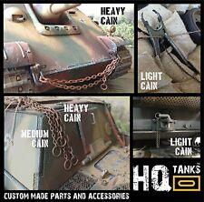 1/16 Scale CHAINS & ROPE for Rc Heng Long / Tamiya Tanks, Vehicles & Diorama