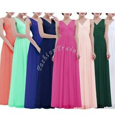 Formal Long Chiffon Prom Bridesmaid Evening Party Cocktail Ball Gown Lady Dress