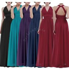 Sexy Women's Chiffon Party Formal Wedding Bridesmaid Prom Ball Gown Long Dress