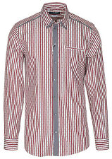 Dolce & Gabbana Men's 'GOLD' Striped Contrast Button Down Dress Shirt