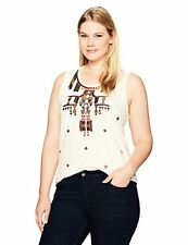 Lucky Brand Women's Plus SZ Gold Embroidered Tank Top - Choose SZ/Color