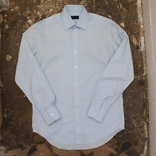 New Mens Lanvin Powder Blue Shirt Size 38 NWOT