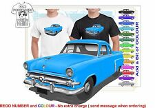 CLASSIC 1954 FORD MAINLINE UTE ILLUSTRATED T-SHIRT MUSCLE RETRO SPORTS CAR