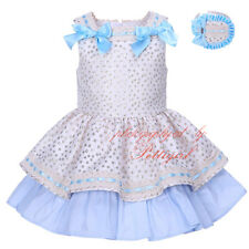 Baby Girl Polka Dot Bow Dress and Headband Set Party Wedding Pageant Communion