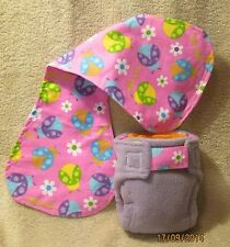 Small AIO Cloth Diapers/Nappies and Burp Cloth set a