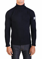 Moncler Gamme Bleu Men's Virgin Wool Turtleneck Sweater Navy Blue