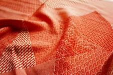 JPI *Salmon patch* Vintage Japanese Silk Kimono Fabric* patchwork,quilt,panel