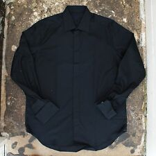 New Mens Lanvin Black Shirt With French Cuff Size 42 NWOT