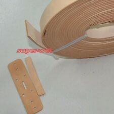Blank Genuine Leather Belt Strap Cow Hide Natural Veg Tan 38mm 110-130cm Brown