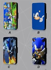 SONIC THE HEDGEHOG CARTOON FAUX LEATHER FLIP PHONE CASE COVER L91