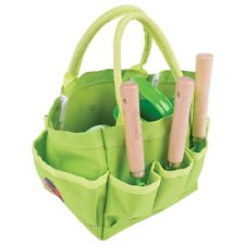 Bigjigs Toys Children's Small Tote Gardening Bag with Tools, Watering Can and Ga
