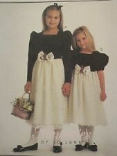 OOP McCALLS 9660 Childs/Girls Lace Overlay Dress PATTERN 4-5-6/10-12-14 UC