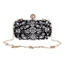 Fashion Crystal Woman Clutch Wedding Evening Party Shoulder Chain Handbag Purse