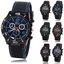 3 Dial Men Military Watches Sport Wristwatch Silicone Fashion Hours Quartz Watch
