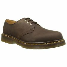 Dr.Martens 1461 3-Eyelet Brown Womens Derby Shoes Crazy Horse Leather