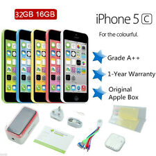 "Original 4"" Apple iPhone 5C 16GB 32GB Unlocked Smartphone 5 Colours Mobile Phone"